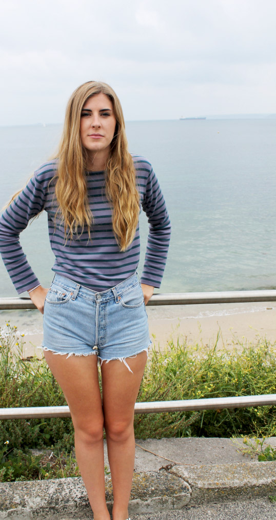 Top: Seasalt, Mariner Shirt £20 (originally £29.95) Shorts: Levis, from Asos Marketplace, £30.