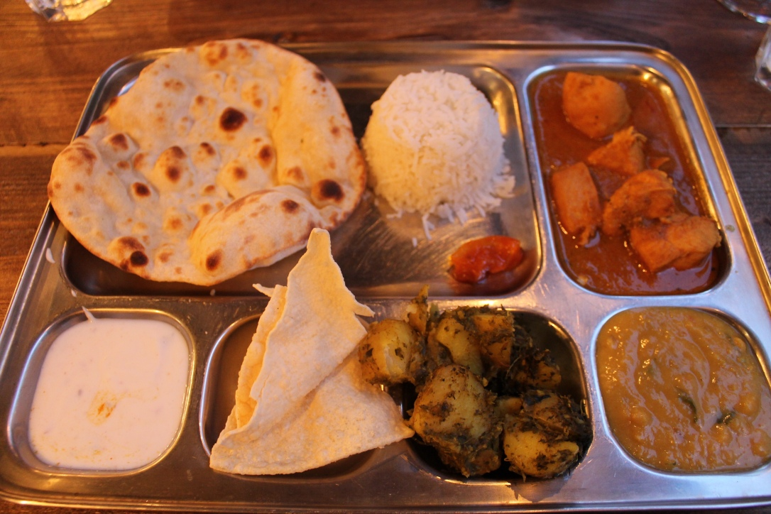 Chicken Thali at Chai Street, Cardiff Bay