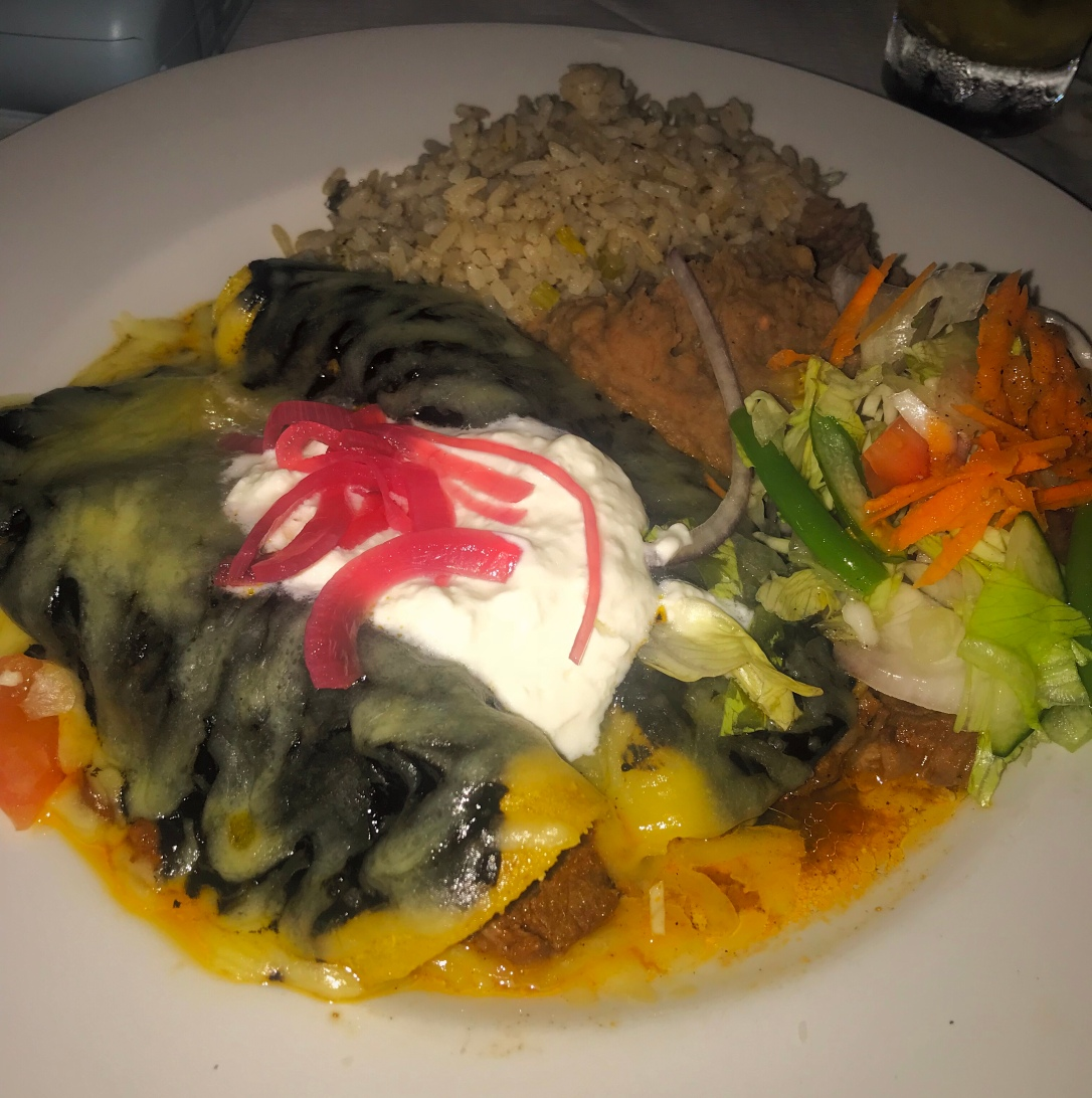 Enchiladas from Casa Mexicana on Zetland Road Bristol