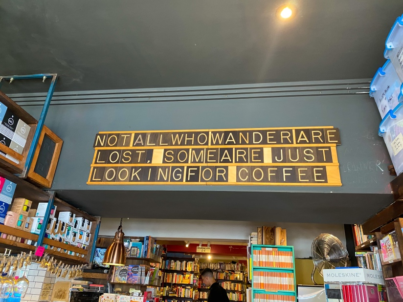Sign on a wall inside Gertrude and Alice cafe in Bondi Beach, Australia.